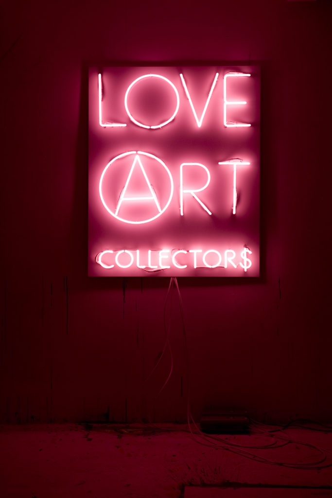 2A, LOVE ART COLLECTOR$, KINGS, 1-5 pink, cm 120x96, 2008, courtesy Marséll